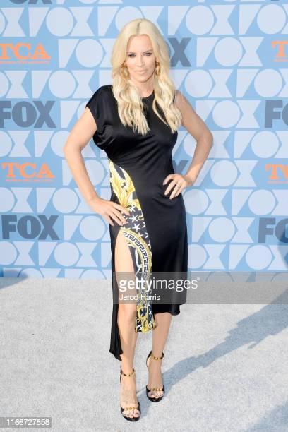 Jenny McCarthy arrives at FOX Summer TCA 2019 AllStar Party at Fox Studios on August 07 2019 in Los Angeles California