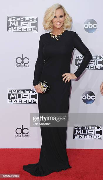 Jenny McCarthy arrives at the 2014 American Music Awards at Nokia Theatre LA Live on November 23 2014 in Los Angeles California