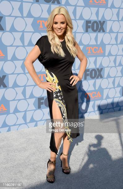Jenny McCarthy arrives at the FOX Summer TCA 2019 All-Star Party at Fox Studios on August 7, 2019 in Los Angeles, California.