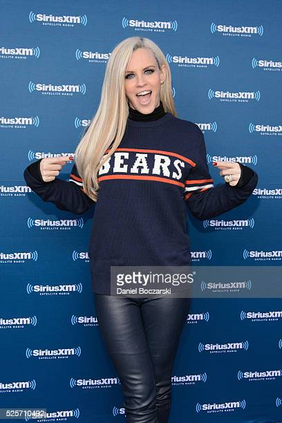 Jenny McCarthy attends during her SiriusXM show from Grant Park in Chicago IL before the NFL Draft on April 28 2016 in Chicago Illinois