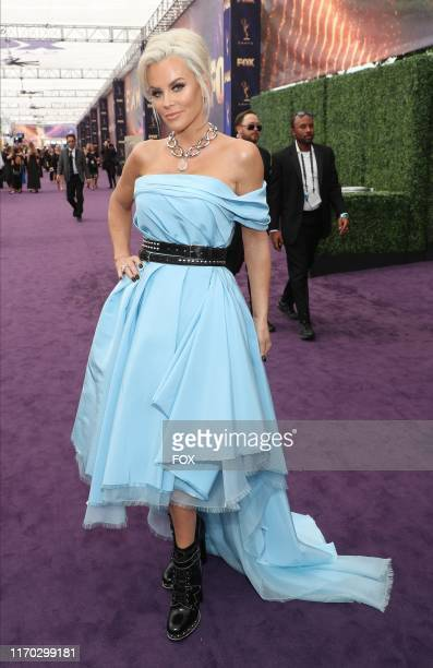 Jenny McCarthy attends FOXS LIVE EMMY RED CARPET PRESHOW during the 71ST PRIMETIME EMMY AWARDS airing live from the Microsoft Theater at LA LIVE in...