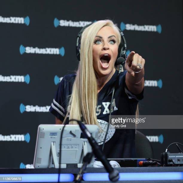 Jenny McCarthy attends SiriusXM at Super Bowl LIII Radio Row on February 01 2019 in Atlanta Georgia