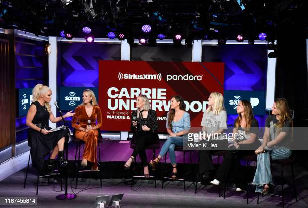 Jenny McCarthy Carrie Underwood Madison Marlow and Taylor Dye of Maddie and Tae and Hannah Mulholland Naomi Cooke and Jennifer Wayne of Runaway June...