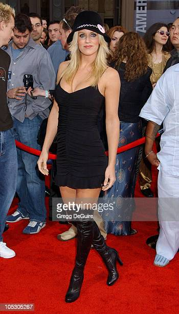 Jenny McCarthy during 31st Annual American Music Awards Arrivals at Shrine Auditorium in Los Angeles California United States