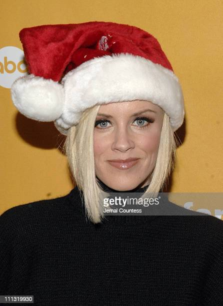 Jenny McCarthy during ABC Family Stars Celebrate the '25 Days of Christmas' Winter Wonderland Event at The Rock Center Cafe at Rockefeller Center in...