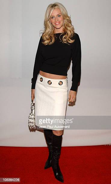 Jenny McCarthy during CBS and UPN 2005 TCA Party Arrivals at Quixote Studios in Los Angeles California United States