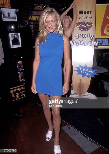 Jenny McCarthy during Jenny McCarthy Autographs New CD Surfin' Safari at Universal Citywalk in Universal Ciy August 31 1996 at Universal CityWalk in...
