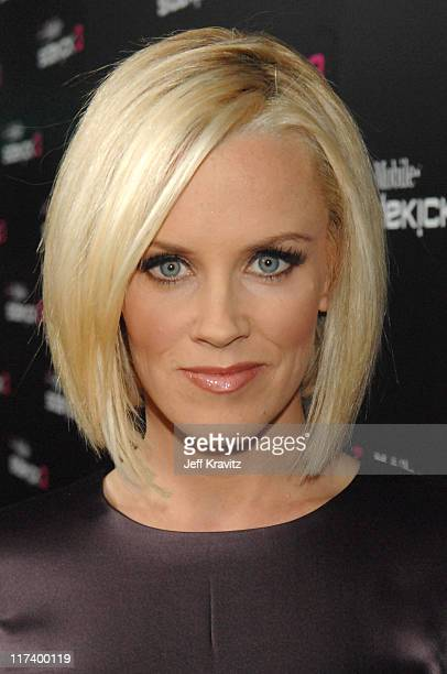 Jenny McCarthy during TMobile Launches Their Limited Edition Sidekicks Red Carpet in Beverly Hills California United States