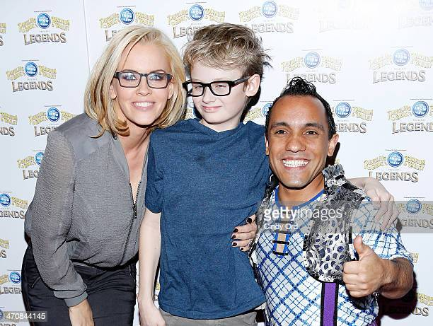 Jenny McCarthy Evan Joseph Asher and circus performer Paulo dos Santos attend Ringling Bros and Barnum Bailey presents Legends at Barclays Center of...