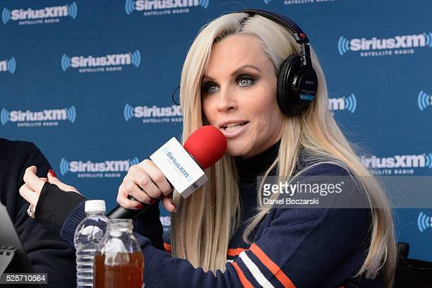 Jenny McCarthy hosts her SiriusXM show from Grant Park in Chicago IL before the NFL Draft on April 28 2016 in Chicago Illinois