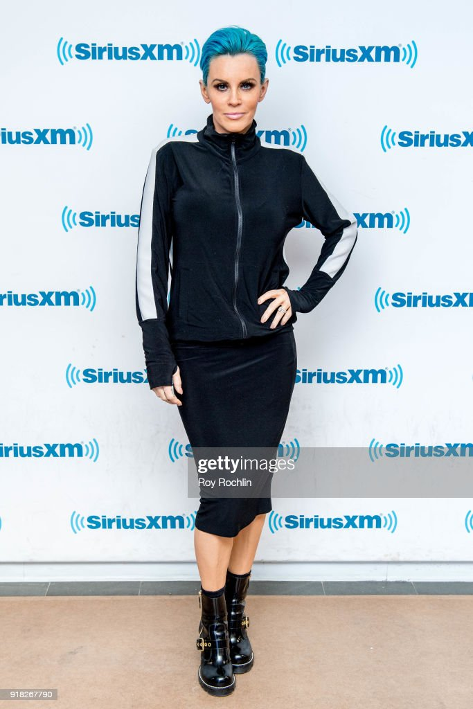 Jenny McCarthy hosts the Jenny McCarthy show at SiriusXM Studios on February 14, 2018 in New York City.