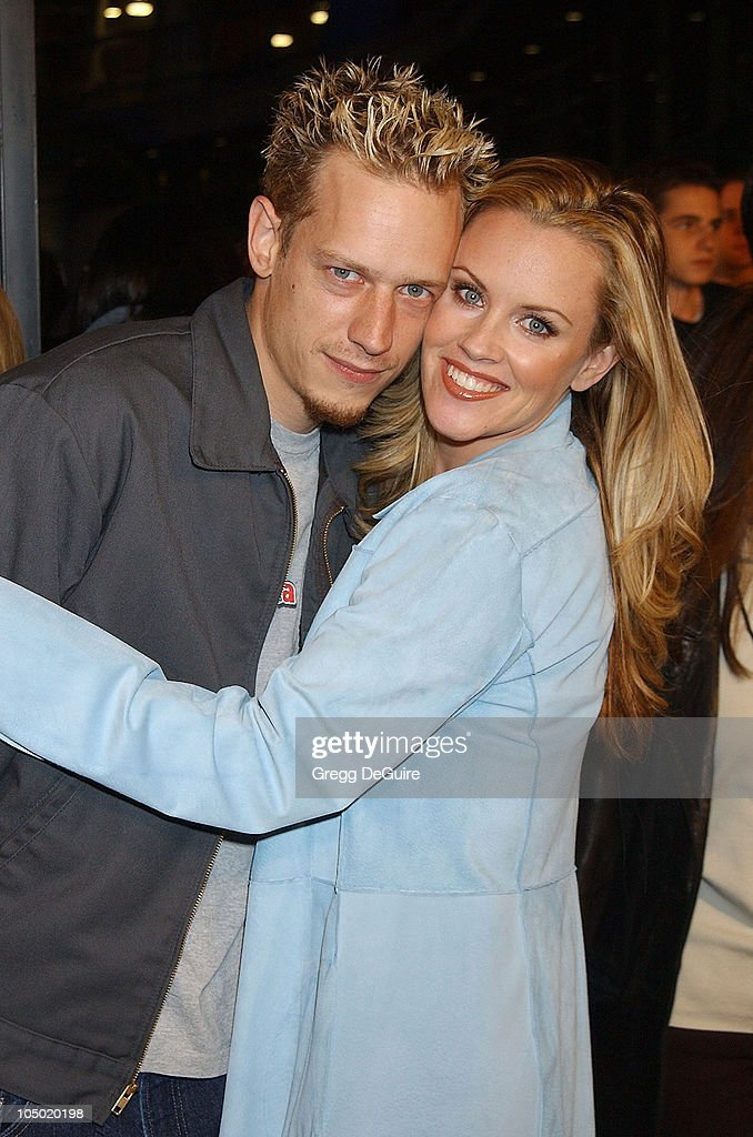 Jenny McCarthy & husband during 'Jackass: The Movie' Premiere at Cinerama Dome in Hollywood, California, United States.