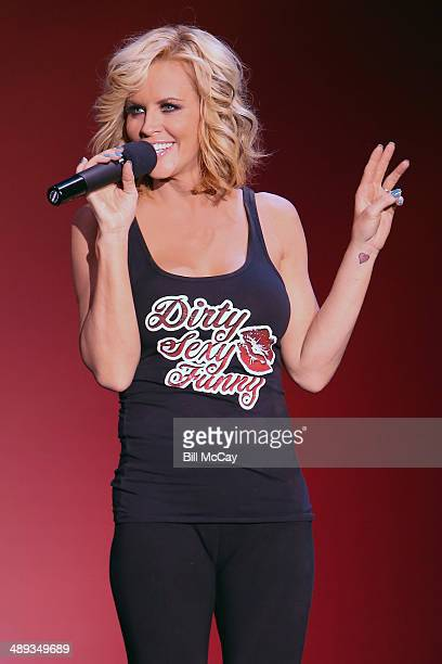 Jenny McCarthy performs Dirty Sexy Funny featuring Jenny McCarthy and friends at the Music Box at the Bogata Hotel Casino Spa May 10 2014 in Atlantic...