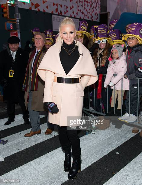 Jenny McCarthy poses during New Year's Eve 2017 in Times Square on December 31 2016 in New York City