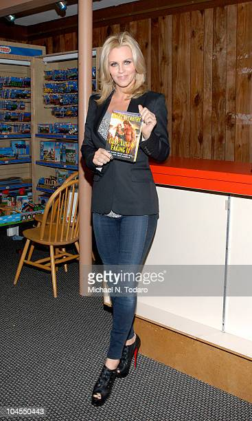 """Jenny McCarthy promotes """"Love, Lust and Faking It"""" at Bookends Bookstore on September 29, 2010 in Ridgewood, New Jersey."""