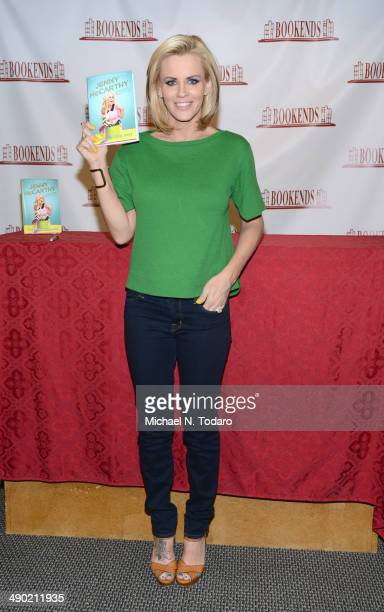 """Jenny McCarthy promotes the new book """"Stirring The Pot: My Recipe For Getting What You Want Out Of Life"""" at Bookends Bookstore on May 13, 2014 in..."""