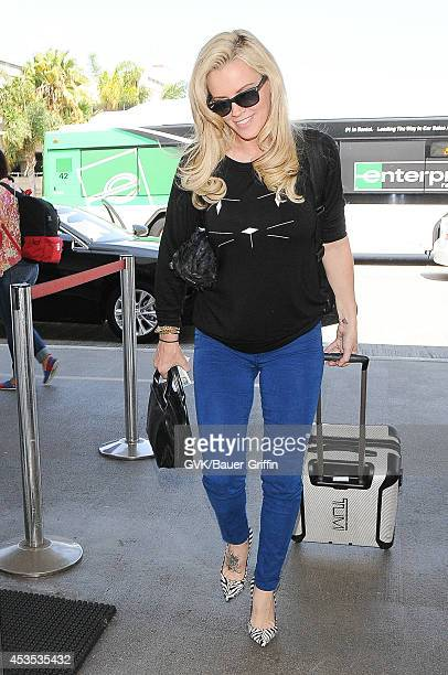 Jenny McCarthy seen at LAX on August 12 2014 in Los Angeles California