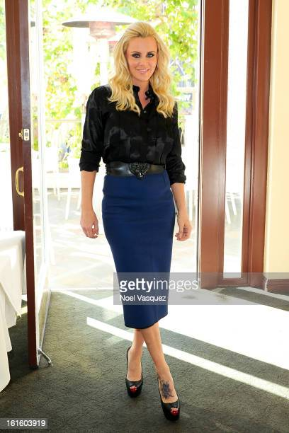 Jenny McCarthy visits Extra at The Grove on February 12 2013 in Los Angeles California