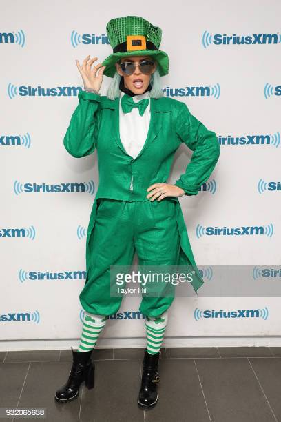 Jenny McCarthy visits the SiriusXM Studios on March 14 2018 in New York City