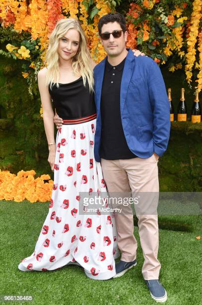 Jenny Mollen and actor Jason Biggs attend the 11th annual Veuve Clicquot Polo Classic at Liberty State Park on June 2 2018 in Jersey City New Jersey