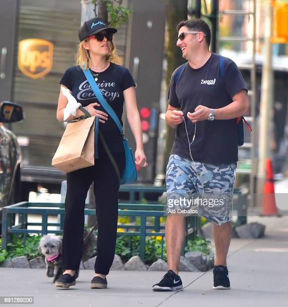 Jenny Mollen and Jason Biggs are seen in Tribeca on June 1 2017 in New York City