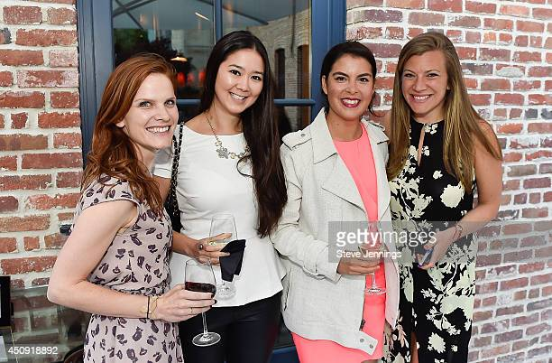 Jenny Morrill Elise Armitage Caroline Ghosn and Nola Weinstein attend the GLAM Founders Innovators Dinner at The Battery on June 19 2014 in San...