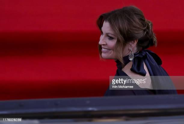 Jenny Morrison wife of Australian Prime Minister Scott Morrison arrives for an official dinner at the White House September 20 2019 in Washington DC...