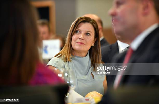 Jenny Morrison wife of Scott Morrison Australia's prime minister attends a news conference at the National Press Club in Canberra Australia on...