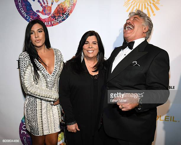 Jenny Orlando Francine Orlando and singer Tony Orlando attend Criss Angel's HELP charity event at the Luxor Hotel and Casino benefiting pediatric...