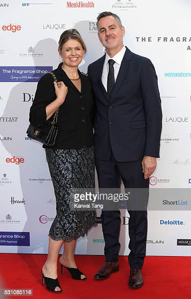Jenny Packham and Matthew Anderson attend the Fragrance Foundation Awards at The Brewery on May 12, 2016 in London, England.