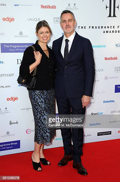Jenny Packham and Matthew Anderson attends the Fragrance Foundation Awards at The Brewery on May 12, 2016 in London, England.