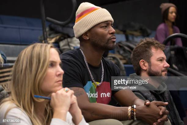 Jenny Parsinen and Shannon Stoeke attend rehearses with Taye Diggs for 'Thoughts Of A Colored Man' on November 15 2017 in New York City