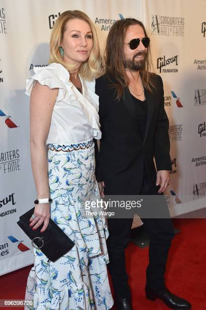 Jenny Petersson and 2017 Inductee Max Martin attend the Songwriters Hall Of Fame 48th Annual Induction and Awards at New York Marriott Marquis Hotel...
