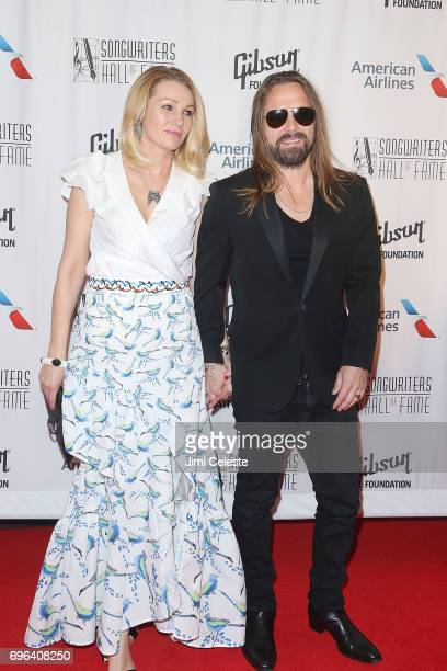 Jenny Petersson and Max Martin attends the Songwriters Hall Of Fame 48th Annual Induction And Awards at New York Marriott Marquis Hotel on June 15,...