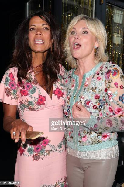 Jenny Powell and Anthea Turner attending Lizzie Cundys 48th Birthday party at Caramel sighting on June 12, 2018 in London, England.