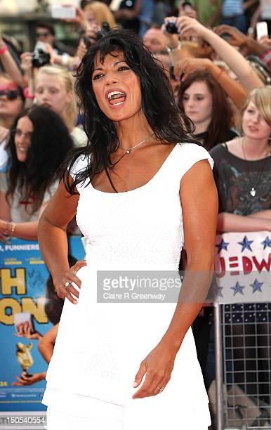 Jenny Powell arrives at the world premiere of 'Keith Lemon The Film' at Odeon West End on August 20 2012 in London England
