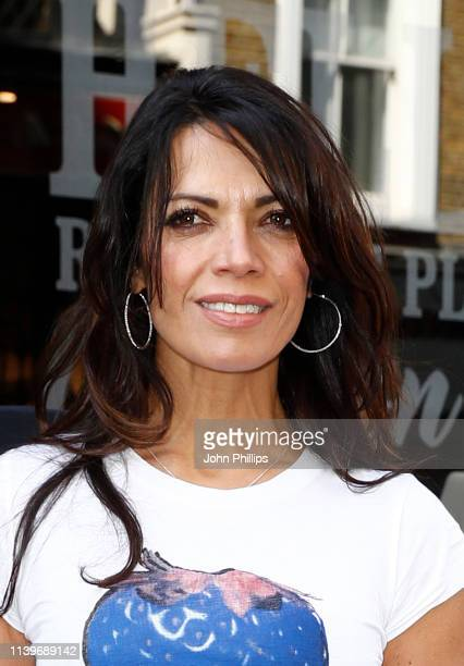 """Jenny Powell attends the """"""""Celebs On The Ranch"""" screening party at the Jerusalem Bar & Kitchen on April 01, 2019 in London, England."""