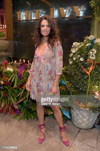 Jenny Powell attends The Ivy Spinningfields Manchester Super Party on April 12 2019 in Manchester England