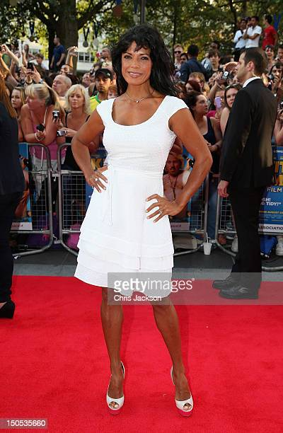 """Jenny Powell attends the world premiere of """"Keith Lemon: The Film"""" at the Odeon West End on August 20, 2012 in London, United Kingdom."""