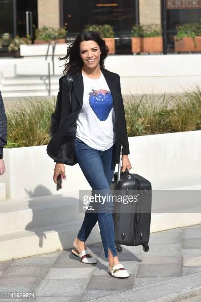 Jenny Powell seen outside the ITV Studios on April 10 2019 in London England