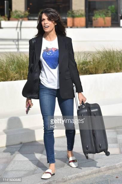 Jenny Powell seen outside the ITV Studios on April 10, 2019 in London, England.