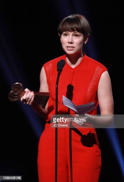 Jenny Radelet Mast speaks onstage during the 2019 iHeartRadio Podcast Awards Presented By Capital One at iHeartRadio Theater on January 18 2019 in...