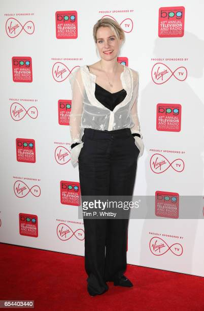 Jenny Rainsford attend the Broadcasting Press Guild Television Radio Awards at Theatre Royal on March 17 2017 in London England