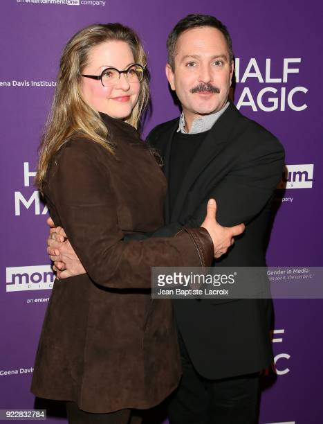 Jenny Robertson and Thomas Lennon attend the premiere of Momentum Pictures' 'Half Magic' at The London West Hollywood on February 21 2018 in West...