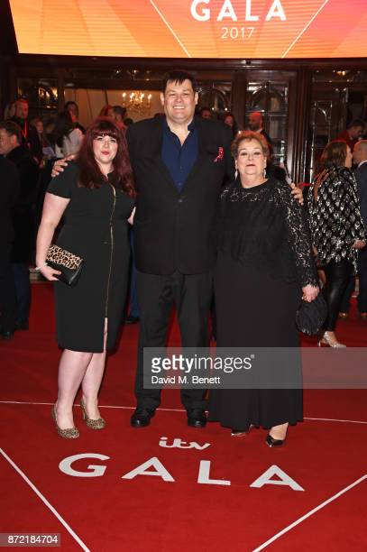 Jenny Ryan Mark Labbett and Anne Hagerty attend the ITV Gala held at the London Palladium on November 9 2017 in London England
