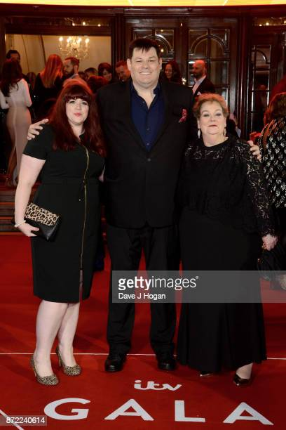 Jenny Ryan Mark Labbett and Anne Hegerty attend the ITV Gala held at the London Palladium on November 9 2017 in London England
