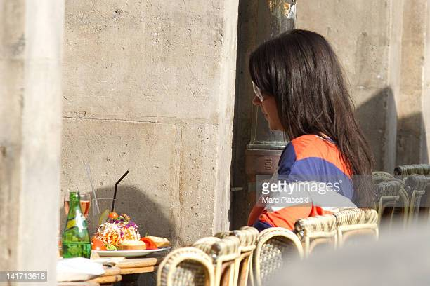 Jenny Sandersson is sighted at 'Carette' restaurant on 'Place des Vosges' on March 22 2012 in Paris France