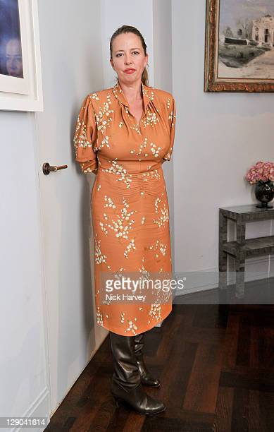 Jenny Saville attends Artists For Women For Women by David Collins in association with Lanvin on October 11 2011 in London England
