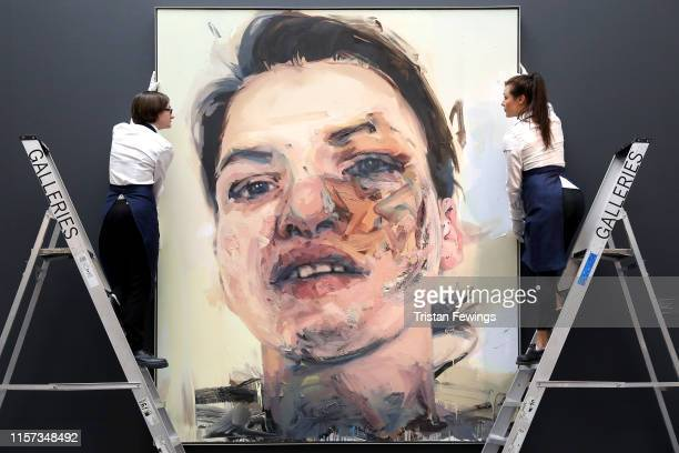 Jenny Saville 'Shadow Head' Est 3000 — 5000 which is to be sold as part of the Sotheby's Contemporary Art Evening and Day Auctions on June 26/27 2019...
