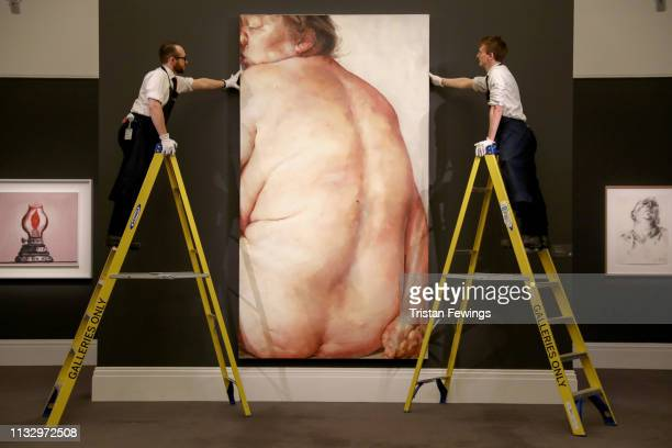 Jenny Saville's 'Juncture' is pictured at Sotheby's on March 01 2019 in London England Sotheby's Contemporary Art Evening Sale takes place on March...
